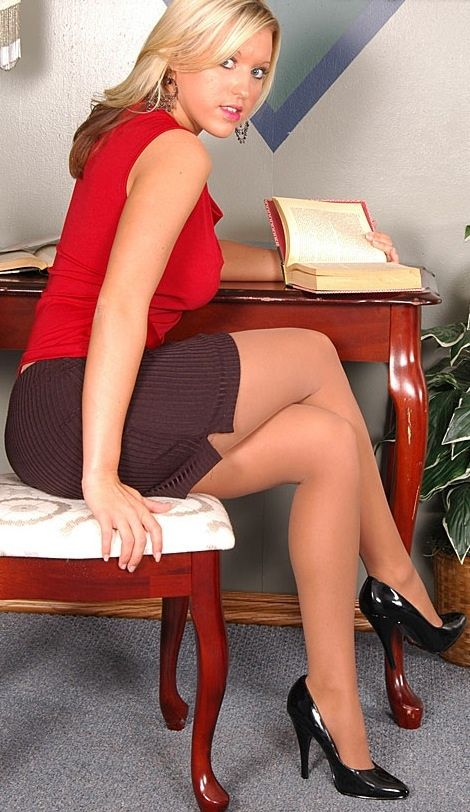 dark tan long legs mature secretary