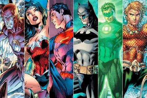 Is this the lineup for the 'Justice League' movie? -- Flash, Wonder Woman, Superman, Batman, Green Lantern, Aquaman, Martian Manhunter?