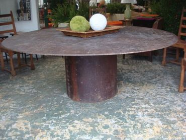 Extraordinary Large Round Industrial Metal Table Top With Round Base |  Dining, Kitchen, Den | Pinterest | Industrial Metal, Industrial And Metals