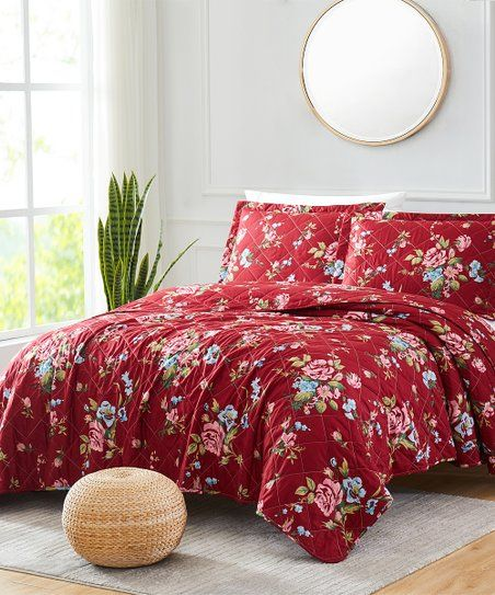 Transform Your Cozy Bedroom Space With A Warm Color Change Thanks To This Versatile Reversible Quilt Set Supersoft Microfiber Polyester Offers A Comfortable S