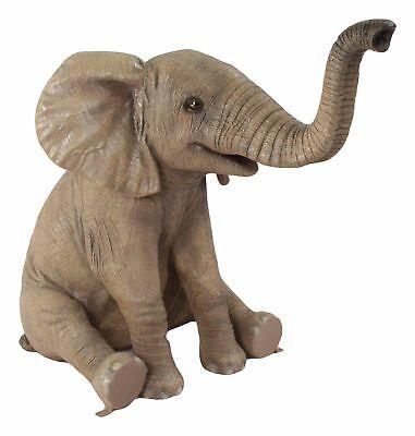 Mother /& Calf Baby Elephants Trunk Up  Figurine The Leonardo Collection