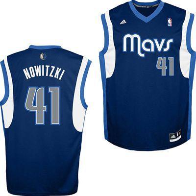 548c66409a9 Dallas Mavericks Adidas NBA Dirk Nowitzki #41 Road Replica Jersey (Navy)