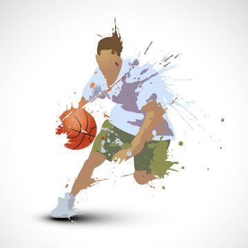 Person Playing Basketball Abstract Action Backboard Png And Vector With Transparent Background For Free Download In 2020 Illustration Vector Game Silhouette Vector