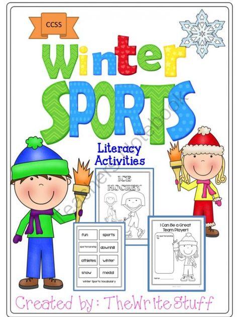 Olympics: Winter Sports Literacy Activities (CCSS)