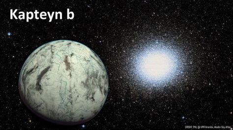 Kapteyn b: a very old and potentially habitable exoplanet. Credit: PHL @ UPR Arecibo/Aladin Sky Atlas via Meridiani Journal.