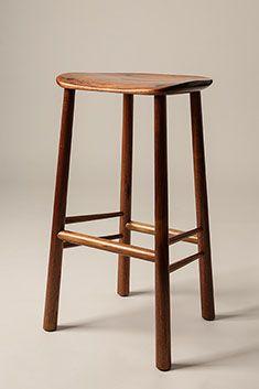 Astonishing Kin Design Co Connect Bar Stool Raw Look Black Stools Machost Co Dining Chair Design Ideas Machostcouk