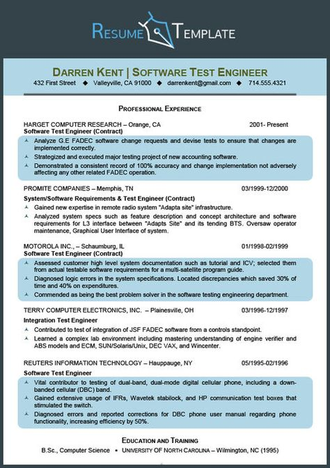 Nice Science Resume Template SCIENCE Pinterest Nice, The o - software test engineer sample resume