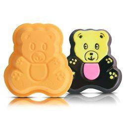 Freshware Silicone Mini Star Reusable Cupcake And Muffin Baking Cup Bear Stuffed Animal Baking Cups No Bake Cake