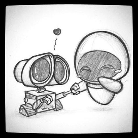 Wall•E and Eve--the most adorable anthropomorphic-robot love story of all time: