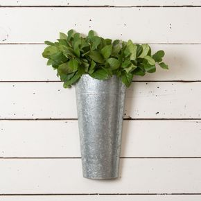 Galvanized Hanging Bucket Magnolia Chip Joanna Gaines Wall Planter Hanging Wall Planters French Country Decorating