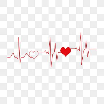 Red Hearts Interspersed On Red Lines Heartbeat Clipart Love Red Png Transparent Clipart Image And Psd File For Free Download World Heart Day Heartbeat Line Clip Art