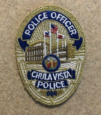 Us State Of California City Of Chula Vista Police Department Cloth Badge Cloth Badges Police Badge Police