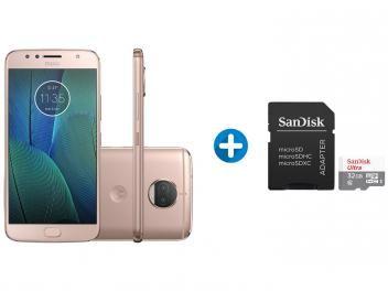 Smartphone Motorola Moto G5s Plus 32gb Ouro Rosa Dual Chip