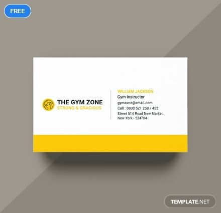 Gym Business Card Template Word Psd Apple Pages Illustrator Publisher Business Card Template Word Modern Business Cards Business Cards Creative