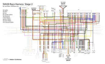 2nd Gen SV650 Race Harness Racing wiring | Motorcycle wiring, Diagram,  Trailer wiring diagramPinterest