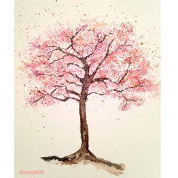 40 Trees Project Adriana Galindo Drigalindo Cherry Tree Tattoos Tree Tattoo Tree Drawing Simple