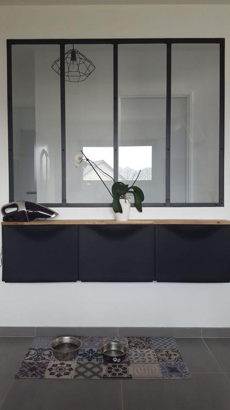Meuble Ikea Sous La Verriere Avec Planche En Chene Meubles Ikea