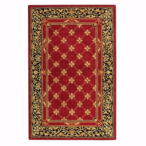 Home Decorators Collection Churchill Red with Design 12 ft. x 15 ft. Area Rug