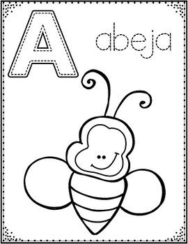 Spanish Alphabet Coloring Pages Letter Of The Week Coloring Posters Alphabet Coloring Pages Alphabet Coloring Spanish Alphabet