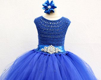 Niña Vestido De Flores Deluxe Azul Vestido De Diamante De