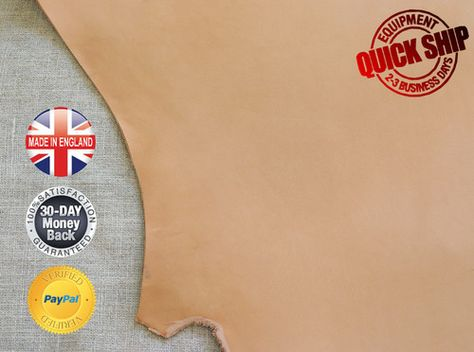 ★ Natural Veg Tan Leather Off-Cut - 3mm Thick, Available in S/M/L/XL UK Stock   eBay