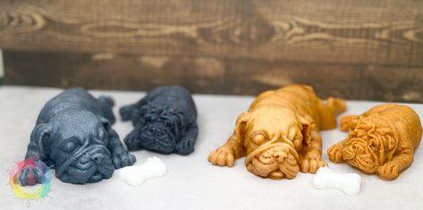 Sleeping Bull-Dogs Wax Melts - Grey / Fresh Air