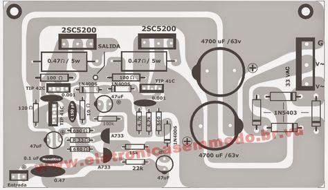 Modulo De Um Excelente Amplificador De 100 W Rms Ideal Para Ser