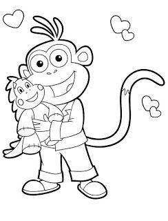 Desenhos De Dora Aventureira Para Colorir Pintar Imprimir Dora
