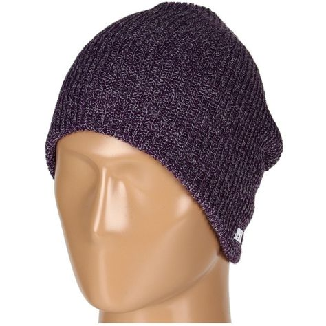 906c821e206642 Neff Daily Heather Beanie (Purple/Grey) Beanies ($13) ❤ liked on Polyvore  featuring accessories, hats, purple, gray hat, grey hat, slouch beanie,  purple ...