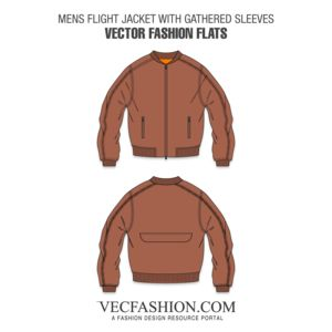 Mens Flight Jacket Template