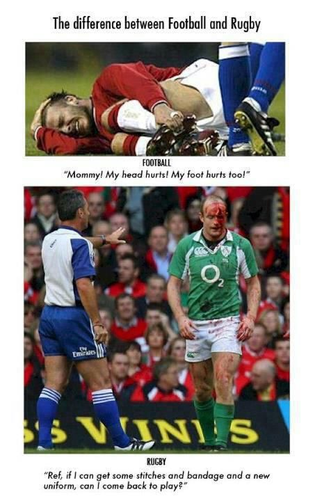 the difference between rugby and soccer.I guess I should've been a rugby player, lol