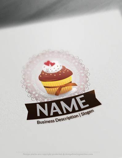 Vintage Cupcake Logo Templates Free Bakery Logo Maker Cupcake Logo Logo Maker Free Logo Templates