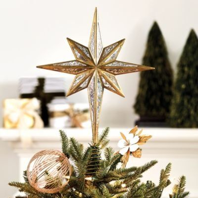North Star Christmas Tree Topper Ornament Star Tree Topper Christmas Tree Topper Ornaments Tree Toppers