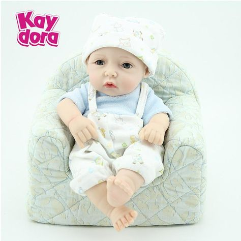 "Reborn Baby Dolls 10/"" Lifelike Soft Vinyl RealLife Looking Boy Doll Newborn"