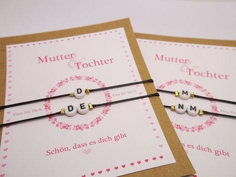 Freundschaftsbänder - So lovely ♥ Mutter & Tochter Armband ♥ Ini…