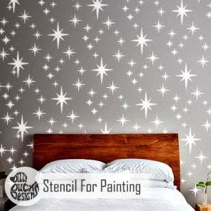 8 Point Star Cer Stencil Children