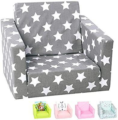 Amazon Com Delsit Toddler Chair Kids Sofa European Made Children S 2 In 1 Flip Open Foam Single Sofa Toddler Fold Out In 2020 Kids Couch Toddler Chair Kids Sofa