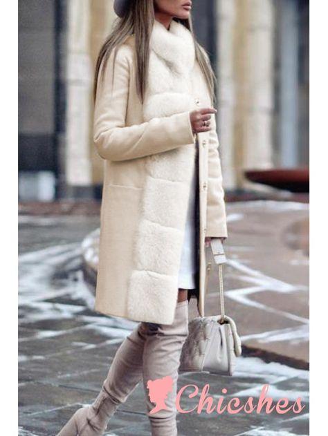 Fashion Long Sleeved Casual Women Warm Coat