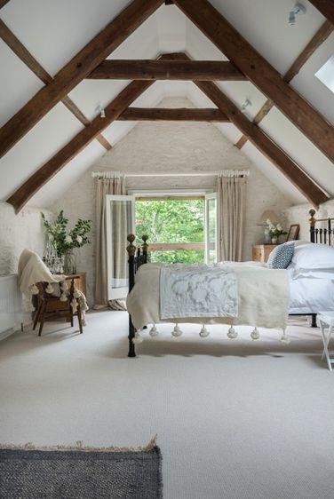 Photo Ddd S Inspiration Station Attic Renovation Attic Bedroom Small Exposed Beams Bedroom
