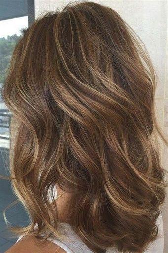 Chestnut Brown With Thin Caramel Blonde Balayage Lig Dark