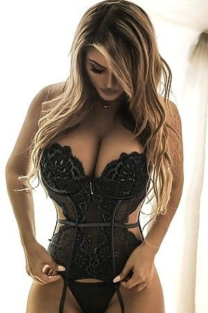 Details about  /Sexy Women Girl Plus Size Lingerie Corset Lace Underwear Sleepwear Pajamas New