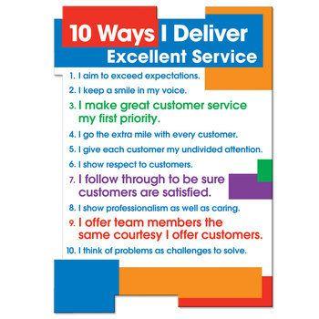 10 Ways I Deliver Excellent Service Magnet