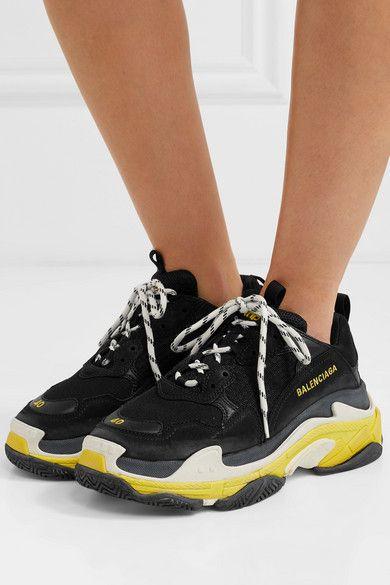 Yellow balenciaga, Sneakers black
