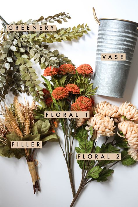 Fall Faux Floral Arrangement - Chalkfulloflove - Fall Faux Floral Arrangement – Chalkfulloflove Les images impressionnantes de diy que l'on propo - Garden Types, Diy Garden, Fall Floral Arrangements, Artificial Flower Arrangements, Halloween Flower Arrangements, Flower Decorations, Living Pequeños, Fall Diy, Fall Flowers