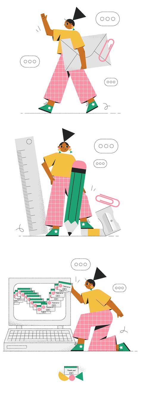 Office Routine Illustration Set