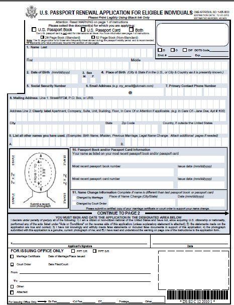 Download Form Ds 82 Ds 82 Passport Renewal Form Passport Info