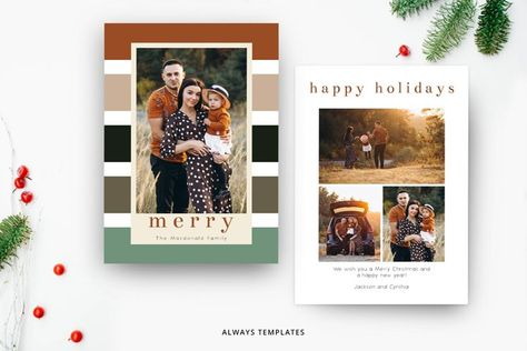 Christmas Card Template CC094 (934254) | Card and Invites | Design Bundles