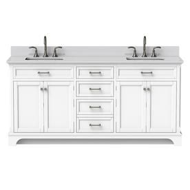 Scott Living Roveland White 72 0 Undermount Double Sink Bathroom