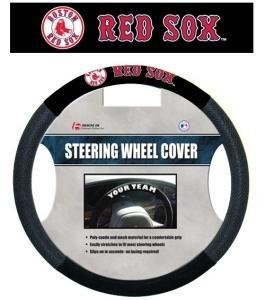 1 pc MLB Chicago White Sox Black White Universal Fit Steering Wheel Cover New