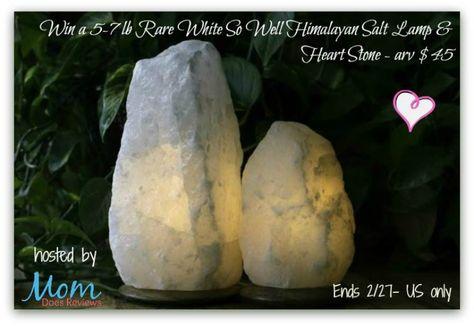 Win A 5 7 Lb Rare White So Well Himalayan Salt Lamp Heart